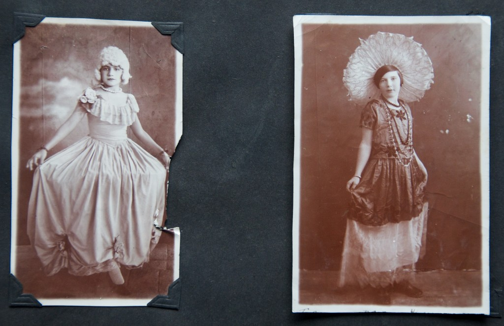 "Illustration #1: ""Mum"" Dressed as a Modern Mexican Woman and an Unknown Friend Dressed as Martha Washington (ca. 1920s in Mexico)"